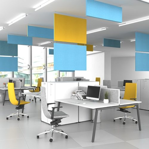 Nova-A-workstations in colourful and contemporary office