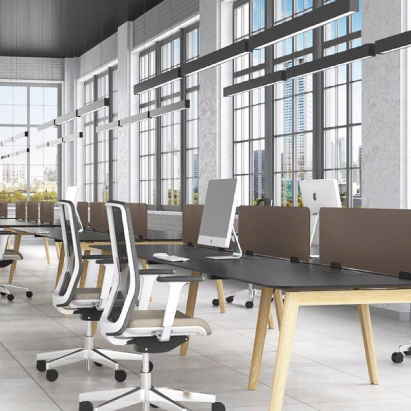 Nova Wood Desking in modern office