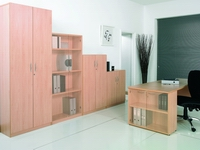 wood effect office storage