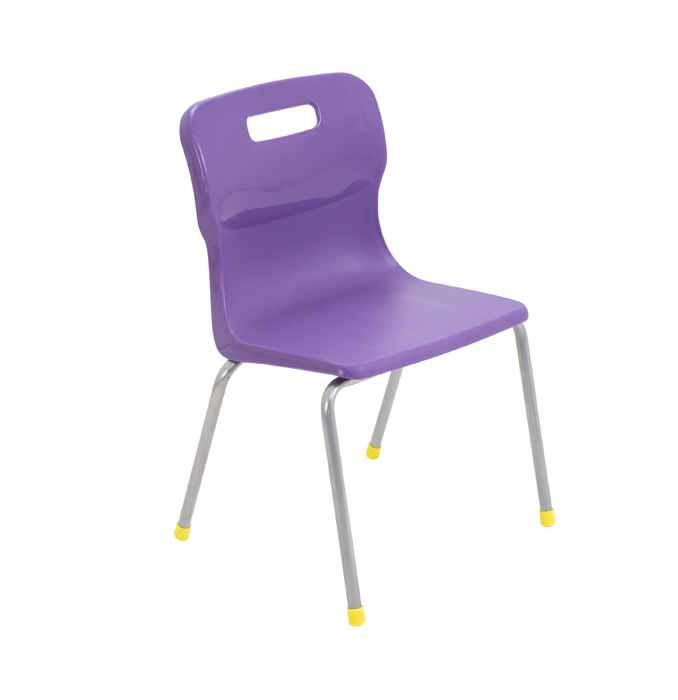 4 leg chair purple