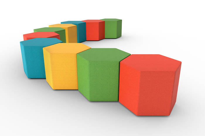 PSI PSEATING PULSE DESIGN RECEPTION SEATING Hexad_CutOutScene_Medium
