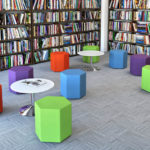 PSI PSEATING PULSE DESIGN RECEPTION SEATING Hexad_SmallStoolScene