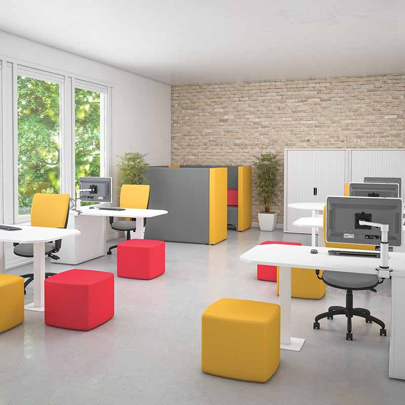 Pure Desking Modern White workstations