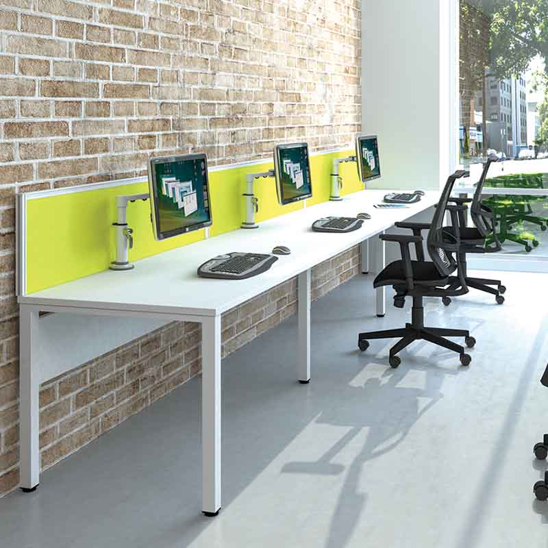 Pure Desking White Work Stations