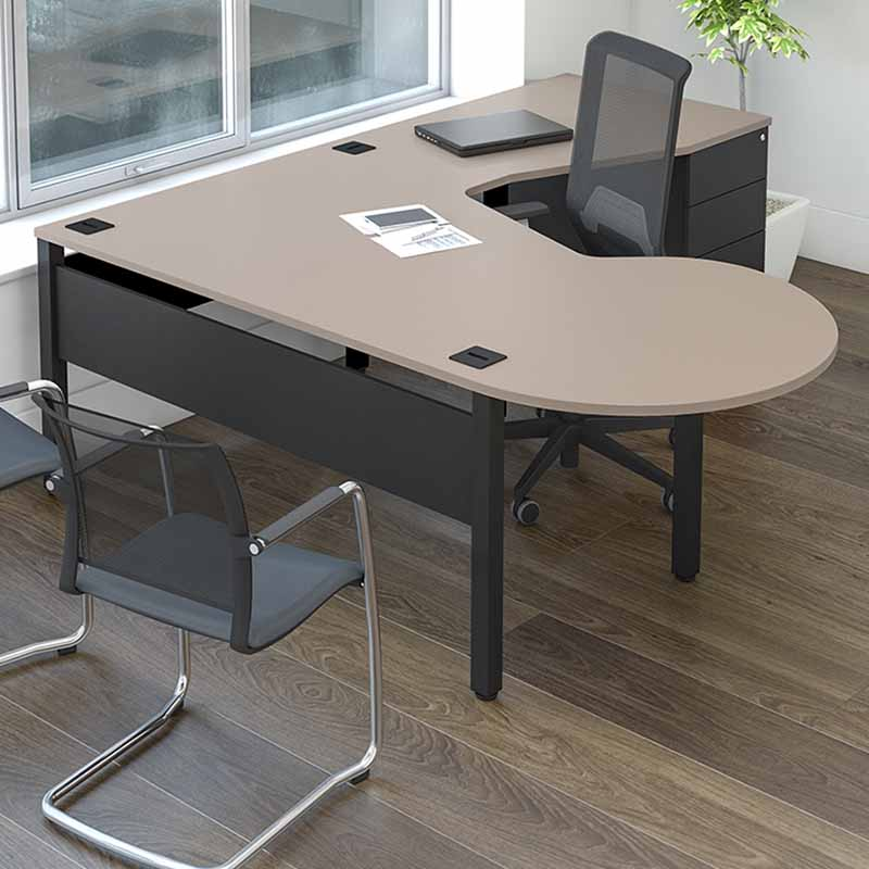 Pure Desking curved single desk