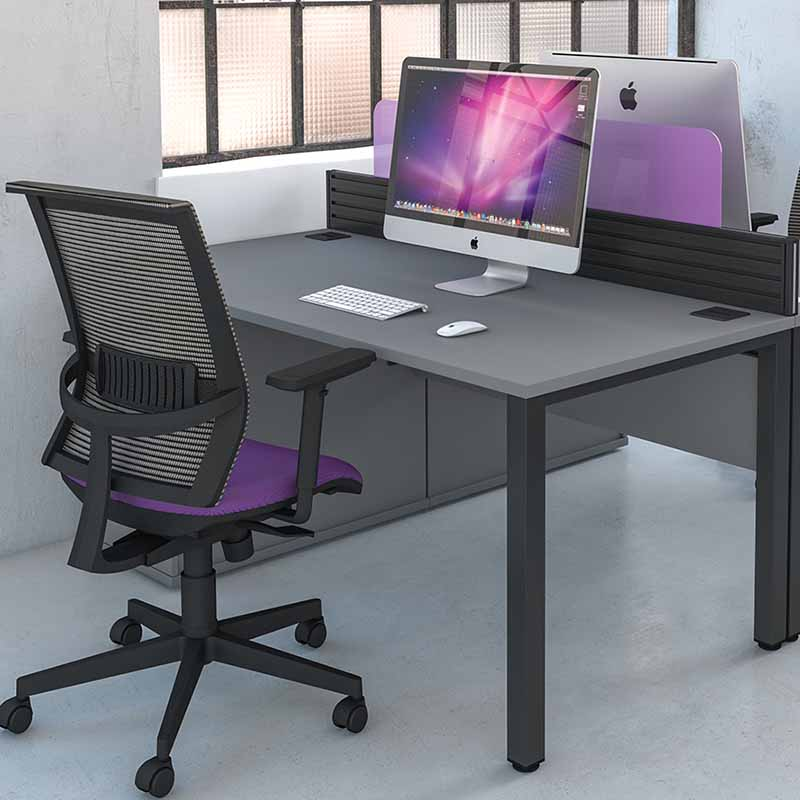 Pure Desking single grey office desks