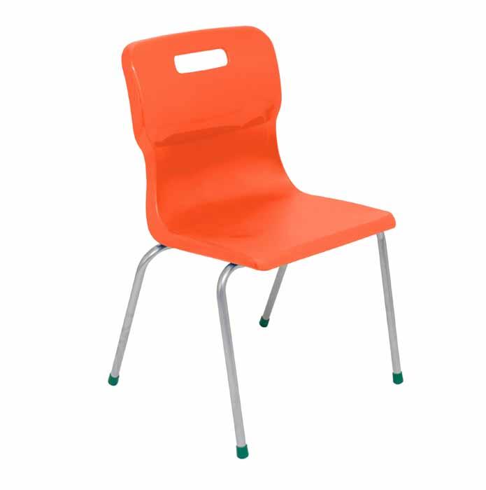 Titan 4 leg chair orange