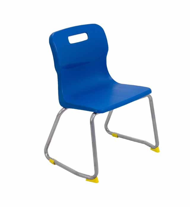 Titan skid chair blue