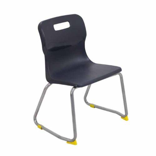 Titan skid chair light black