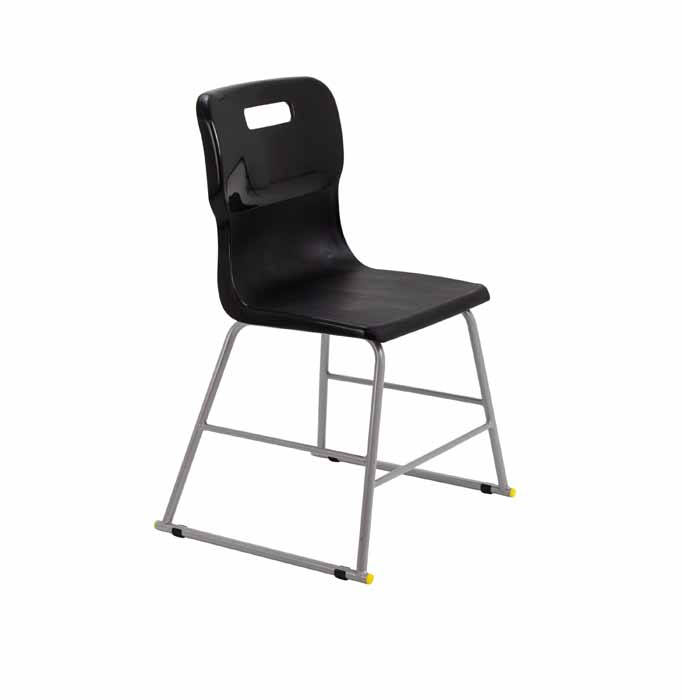 Titan skid chair black