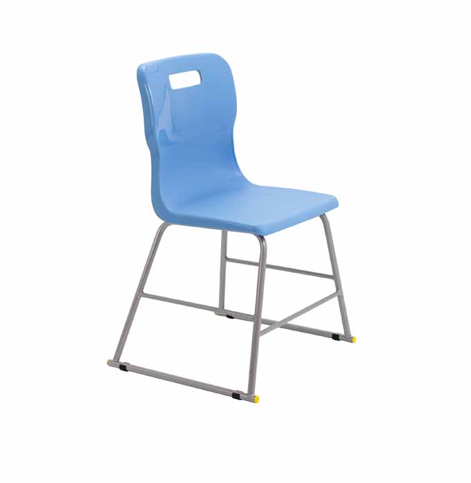 Titan skid chair light blue
