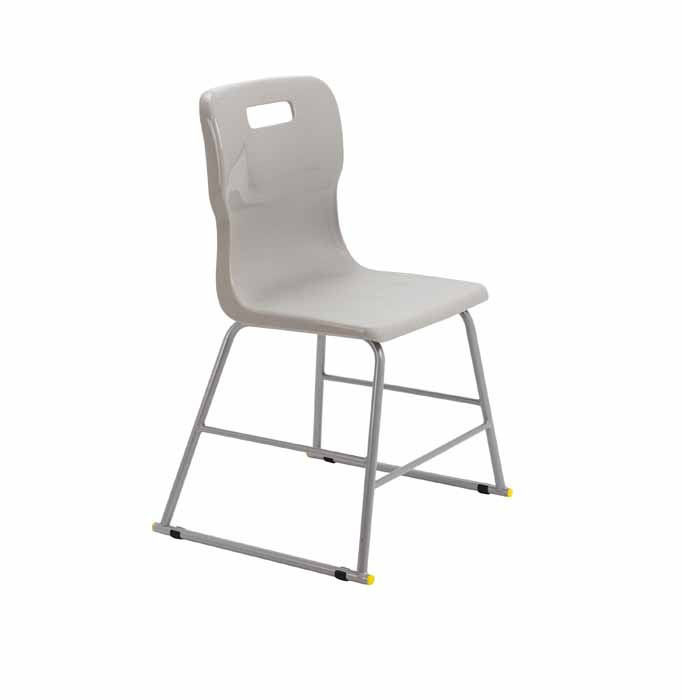 Titan skid chair grey white