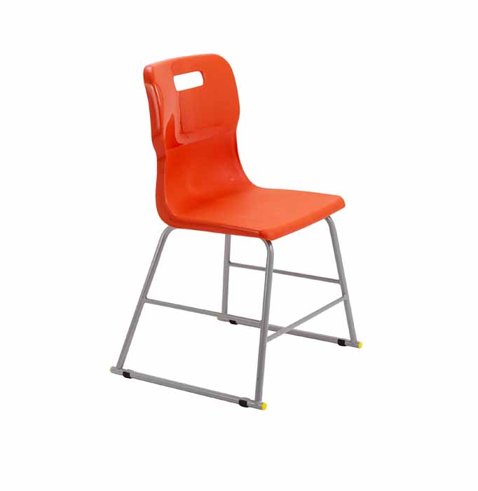 Titan skid chair orange