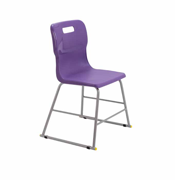 Titan skid chair purple