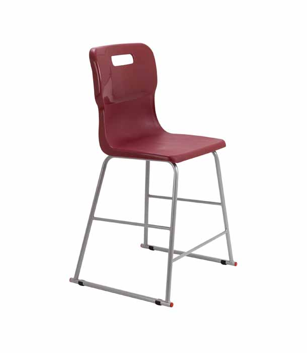 Titan skid chair burgundy
