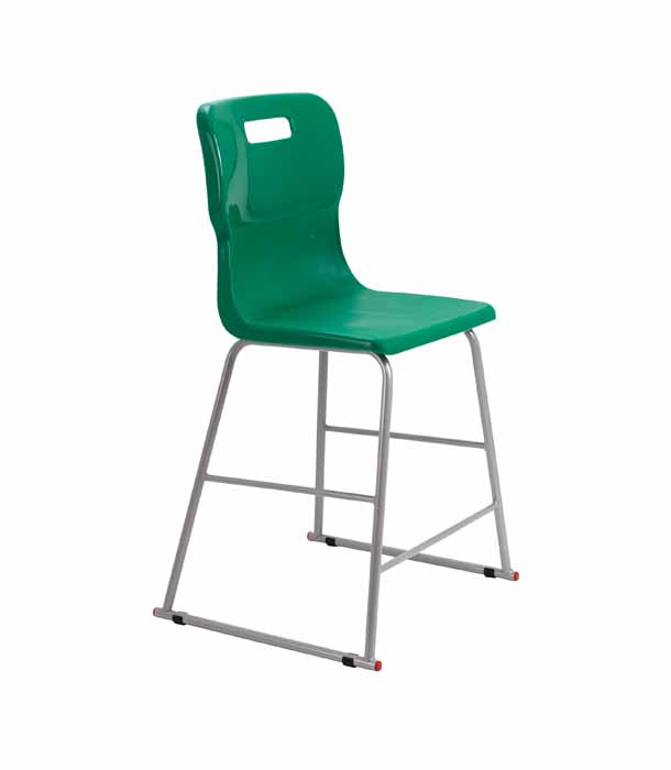 Titan skid chair forest green