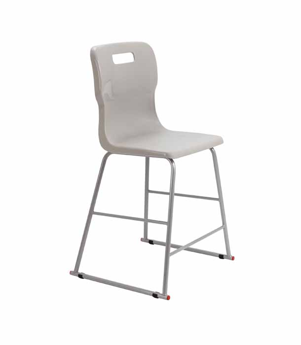 Titan skid chair grey