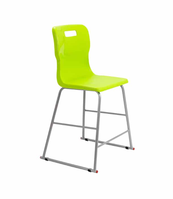 Titan skid chair lime green