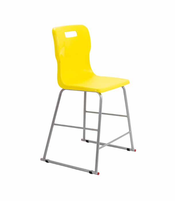yellow Titan skid chair