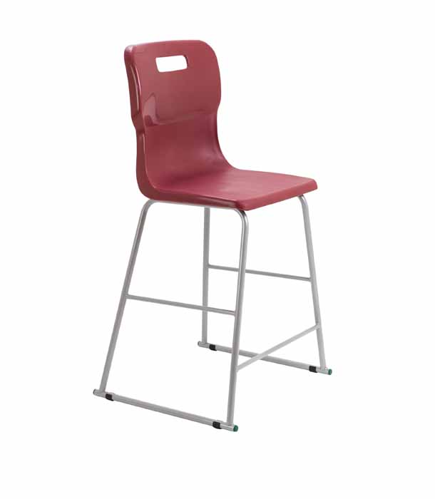 burgundy Titan skid chair