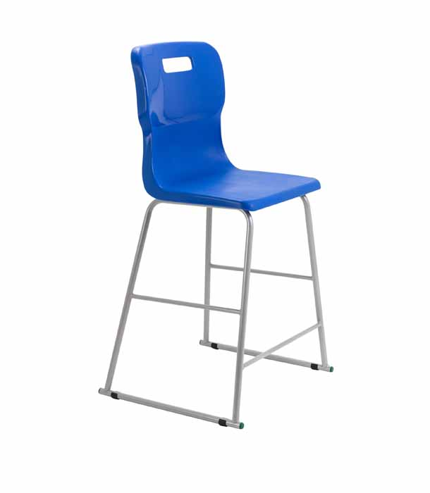 royal blue Titan skid chair