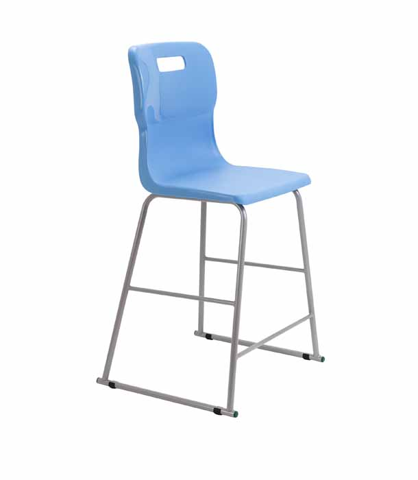 light blue Titan skid chair