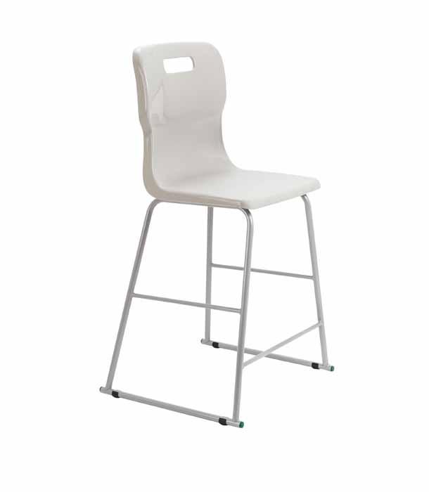 grey white Titan skid chair