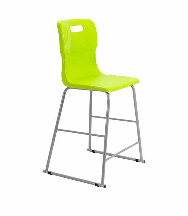 Lime green Titan skid chair
