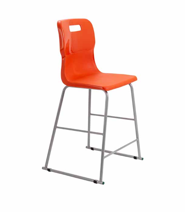 orange Titan skid chair