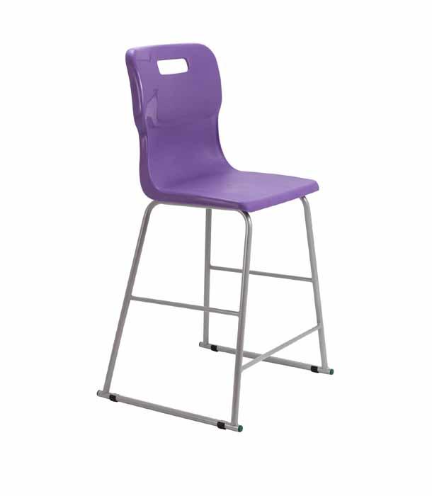 Titan skid chair purple