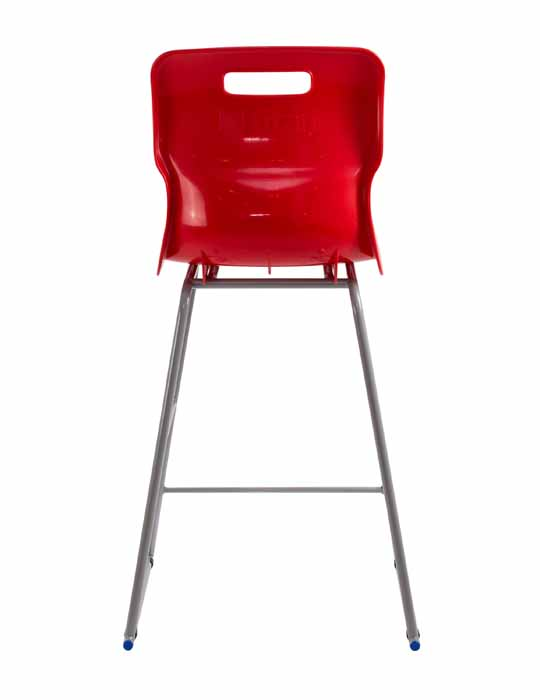 Titan skid chair red back view