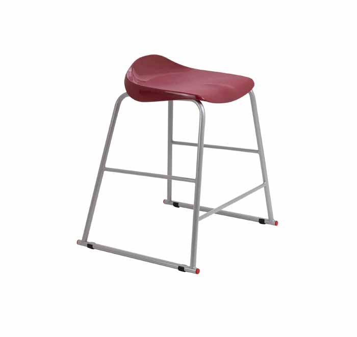 burgundy stool
