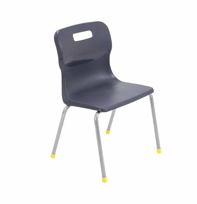 Titan 4 leg chair black