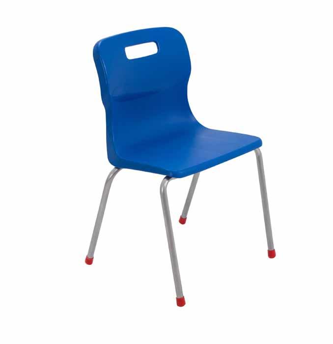 Titan 4 leg chair in blue