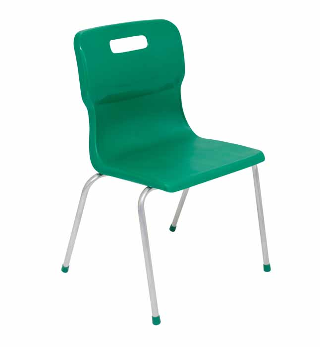 Titan 4 leg chair in green