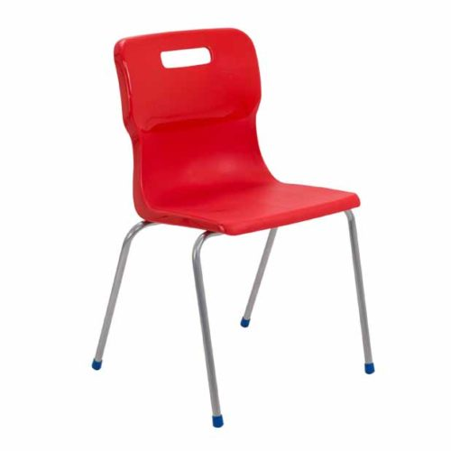 Titan 4 leg chair in red