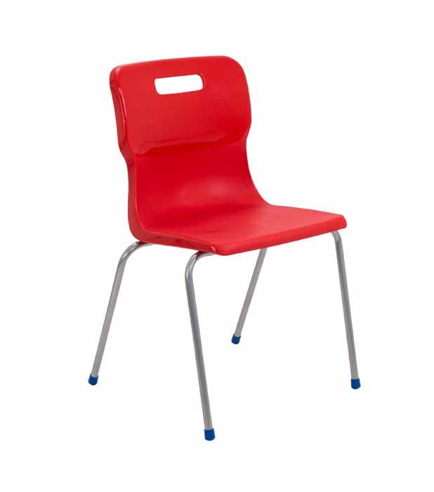 Titan 4 leg chair in red