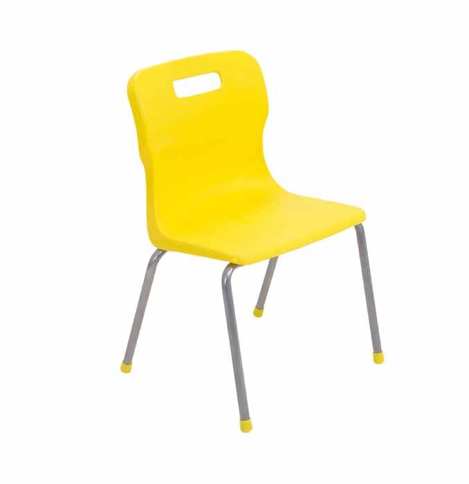 Titan 4 leg chair yellow