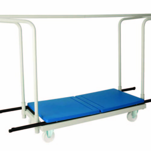 exam trolley and desks