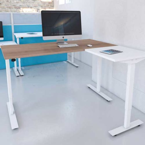 2 Piece Radial Freedom Lite sit and stand desk