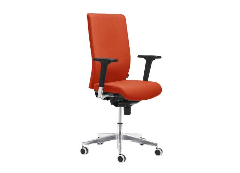 Aura swivel task chair in burnt orange