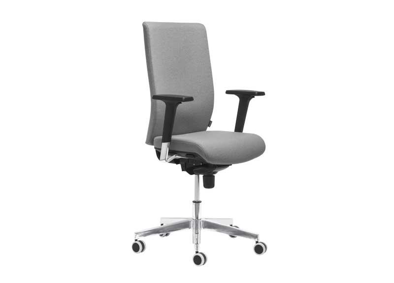 Aura swivel task chair in grey