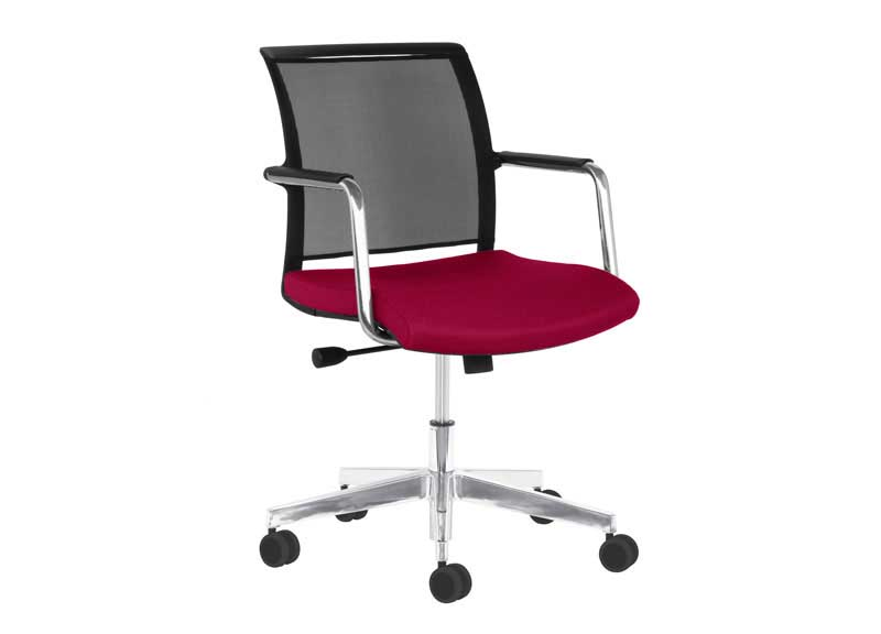 Diva chair with armrests and swivel base