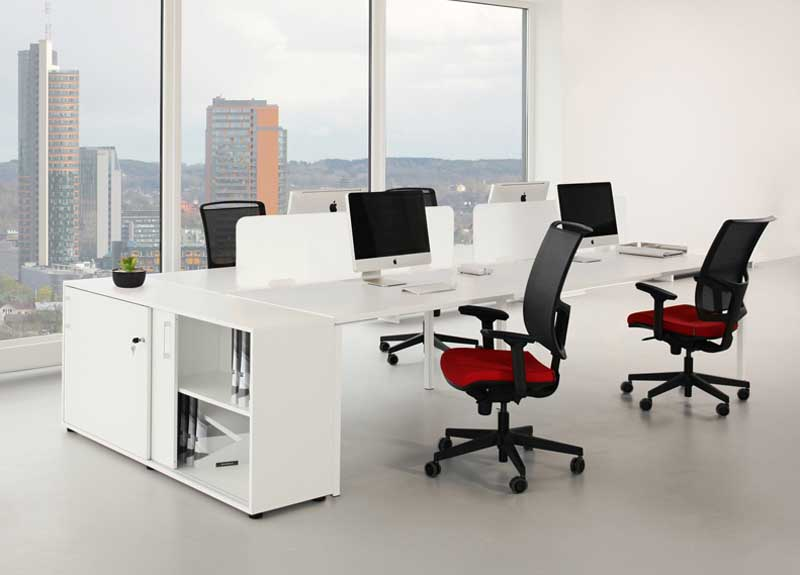 Diva task chairs in a modern office