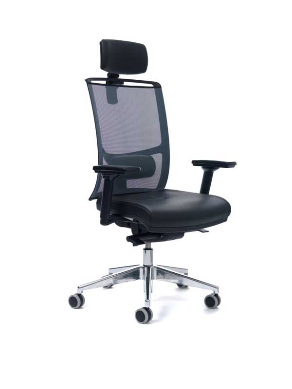 Diva highback swivel task chair with head rest