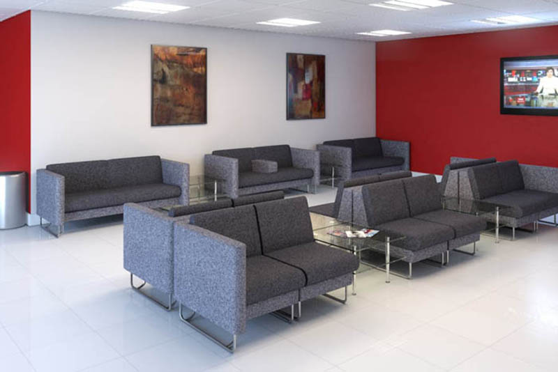 Eden soft seating sofas in grey