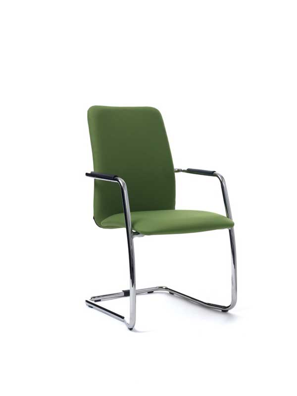 GAMA chair in green with skid base