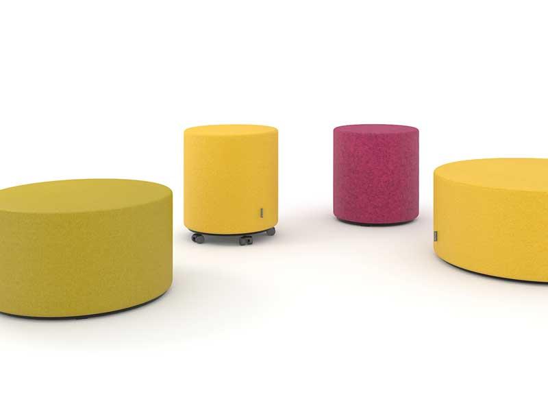 Giro soft seating stools
