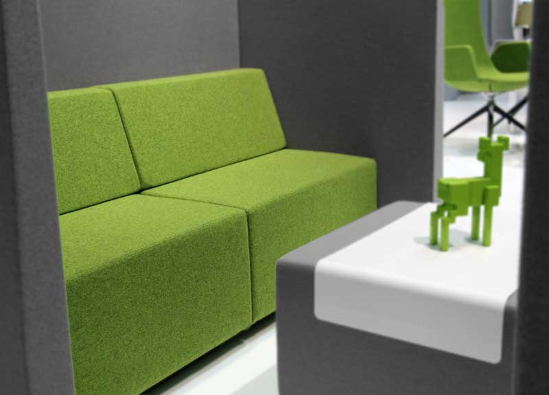 Jazz soft seating in lime green
