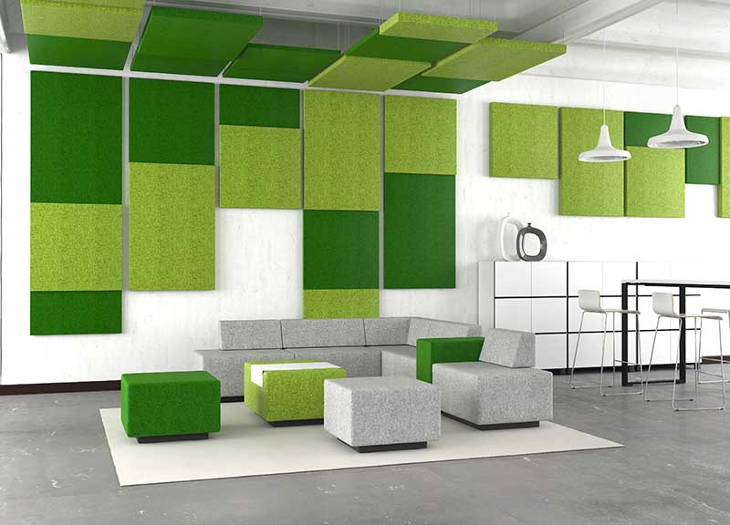 Jazz soft seating in a reception area